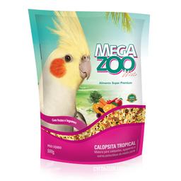 Ração Megazoo Mix Calopsitas Tropical (500g)