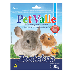 Ração Zootekna Pet Valle para Chinchilas e Porquinhos da Índia