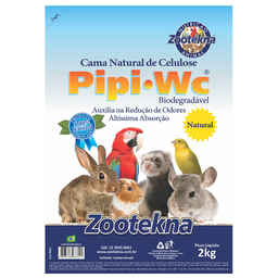 Cama Zootekna PipiPet Natural Roedores (2kg)