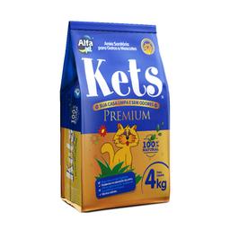 Areia Higiênica Kets Premium para Gatos 4kg