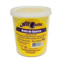 Areia Quartzo All Garden Amarelo Gema 800g