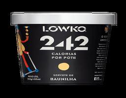 Sorvete Sem Açúcar Baunilha Lowko 455 mL
