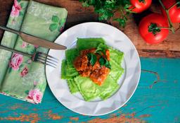 Ravioli Verde De Muzzarella De Bufala & Sobrecoxa Caipira