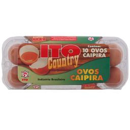 Leve 3 Und - Ovo Caipira Ito Country com 10 Unidades