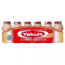 Leve 3 Und  Leite Fermentado Yakult 80g com 6 unidades