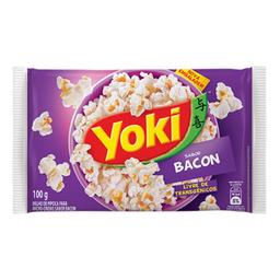 Leve 3 Milho de Pipoca Para Micro-Ondas Bacon Popcorn Yoki 100g