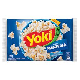 Milho de Pipoca Para Micro-Ondas Manteiga Popcorn Yoki 100g