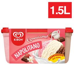 Leve 2 Und - Sorvete Cremosíssimo Napolitano Kibon 1,5 Litros