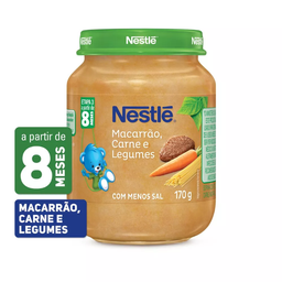 Leve 3 Alimento Infantil Carne, Legumes e Macarrão Nestlé Pote