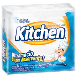 Leve 6 Guardanapo Kitchen 23,5cm x 22cm com 50 unidades