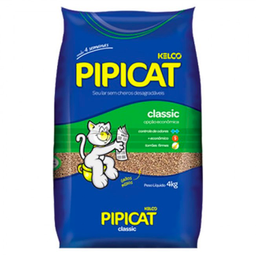 Leve 6 Areia Higiênica Pipicat Classic Kelco Pacote 4kg