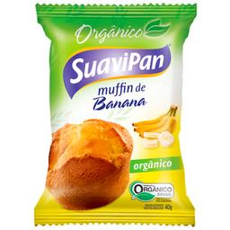 Leve 3 Und - Muffin Orgânico de Banana Suavipan 40g