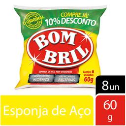 Lã de Aço Bombril Pacote com 8 unidades