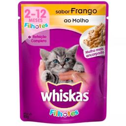 Leve 6 Ração de Frango Whiskas Sachê Filhote 85g