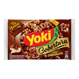 Milho de MicroOndas c/ Cobertura de Chocolate Popcorn Yoki 160g