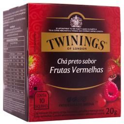 Leve 3 Chá Inglês Preto de Frutas Vermelhas Twinings c/ 10 unid.