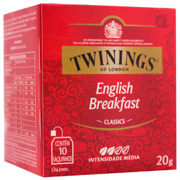 Leve 3 Und  Chá Inglês Preto Twinings 20g com 10 unidades