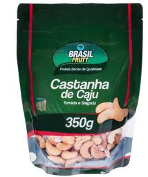 Leve 3 Und - Castanha de Caju Torrada Salgada Brasil Frutt 350g