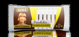 Leve 6 Und - Prendedor De Roupa Plast Gina C/12