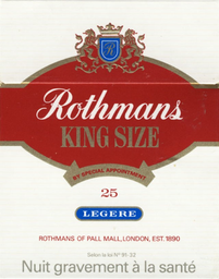 Leve 10 Und - Cigarro Rothmans Red Maco