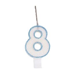 Vela Glitter Festcolor Azul N 8