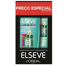 Shampoo 375ml + Condicionador 170ml Hydra Detox Elseve