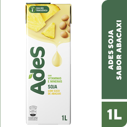 Leve 3 Und - Bebida de Soja sabor Abacaxi Ades 1 Litro