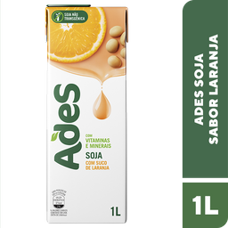 Leve 3 Und - Bebida de Soja sabor Laranja Ades 1 Litro