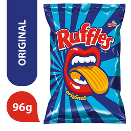 Leve 3 Batata Frita Ondulada Original Elma Chips Ruffles 96g