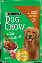 leve 3 Und - Dog Chow Carne Ao Molho 15X100G