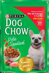 leve 3 Und - Dog Chow Mix De Frango E Carne 15X100G
