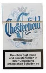 Leve 10 Und - Cigarro Chesterfild Blue Box