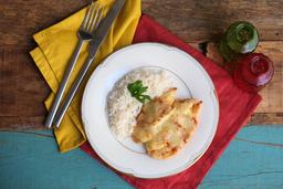 Frango Parmegiana ao forno + arroz