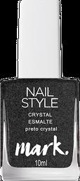 Mark. Nail Style Crystal Esmalte Preto Crystal