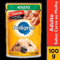 Leve 6 Ração Úmida Pedigree Sachê Carne Cães Adultos 100 g