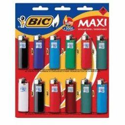 Isqueiro Bic Maxi J6 Ctl Com 12 Und