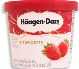 Haagen Dazs Sorvete Strawberry