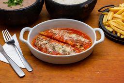 Bife a Parmigiana - Serve 2 á 3 Pessoas