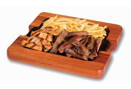 Tábua Mista de Frango, Carne e Fritas
