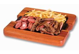 Tábua Mista de Calabresa, Carne e Fritas