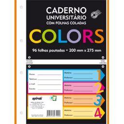 Caderno universitário c/96 fls coladas colors 74533 Spiral