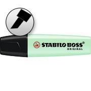 Pincel marca texto verde Boss pastel Stabilo