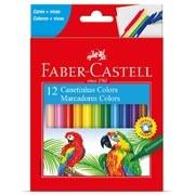 Caneta hidrográfica 12 cores 15.0112CZF Faber Castell