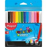Caneta hidrografica 12 cores. Color Peps Ocean 845720 Maped