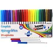 Caneta hidrográfica 24 cores lavável Happy-time