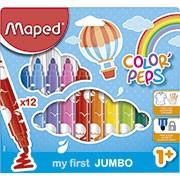 Caneta hidrográfica 12 cores maxi Color Peps Jumbo 846020 Maped