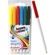 Caneta hidrográfica 06 cores lavável Happy-time