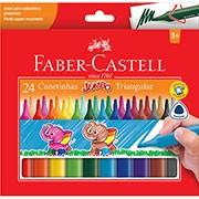 Caneta hidrográfica 24 cores Jumbo 15.0224J Faber Castell