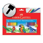 Caneta hidrográfica 24 cores 15.0124CZF Faber Castell