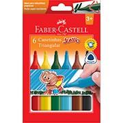 Caneta hidrográfica 06 cores Jumbo 15.0206J Faber Castell
